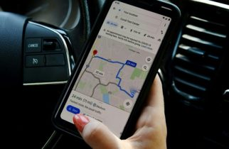 "This illustration picture shows Google map application displaying medical facility or a COVID-19 testing center on a smartphone in Arlington, Virginia on June 9, 2020.   A new version of Google's mapping service being rolled out will display pandemic-related transit alerts and let people know when buses or trains might be crowded. Updated versions of the free app for smartphones powered by Apple or Google-backed Android software will also let drivers know about COVID-19 checkpoints or restrictions on their routes. ""We're introducing features to help you easily find important information if you need to venture out, whether it's by car or public transportation,"" Google Maps product management director Ramesh Nagarajan said in a blog post detailing updates.,Image: 529545034, License: Rights-managed, Restrictions: TO GO WITH AFP STORY by Chris LEFKOW, Model Release: no"
