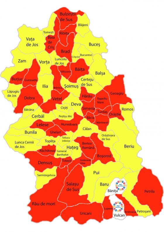 harta judet localitati 2020