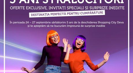Shopping City Deva aniversează primii 5 ani cu premii instant și surprize memorabile