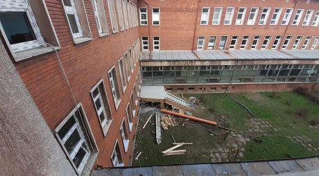 Stadiul lucrărilor la ambulatoriul de la spitalul din Hunedoara