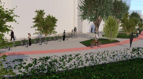 Pistă de biciclete și trotuare amenajate pe bani europeni la Deva!