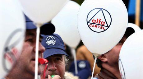 Pichet al sindicaliştilor Cartel Alfa la Ministerul Muncii