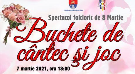 """Spectacol folcloric """"Buchete de cântec și joc"""", la Centrul Cultural """"Drăgan Muntean"""" din Deva!"""