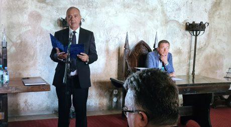 Conducerea CJ Hunedoara la decernarea titlului de Cetățean de Onoare președintelui Academiei Române