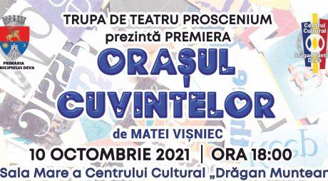 Orașul Cuvintelor – spectacol de teatru la Deva
